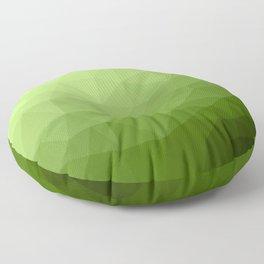 Greenery ombre gradient geometric mesh Floor Pillow