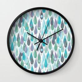 Let it Rain II Wall Clock