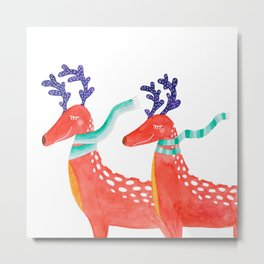Two magical deers Metal Print