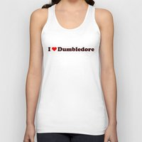 dumbledore Tank Tops featuring I heart Dumbledore by Umbrella Design