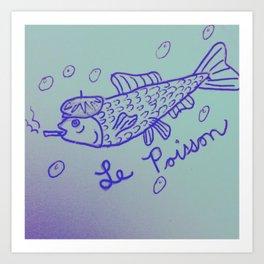 Le Poisson Art Print