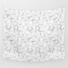ginkgo leaves (white) Wall Tapestry