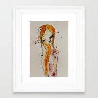 redhead Framed Art Prints featuring redhead by SannArt