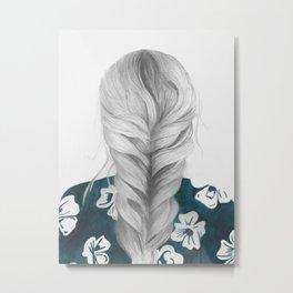 Grey Grey Metal Print