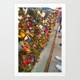 Lock your Love Art Print