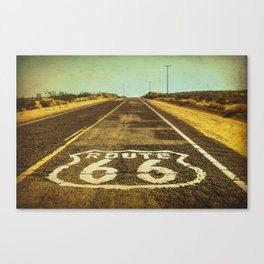 Route 66 Road Marker Canvas Print