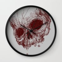 the mortal instruments Wall Clocks featuring mortal coil by Isaboa