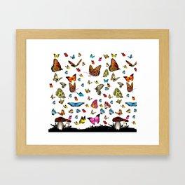 Butterfly´s friends Framed Art Print
