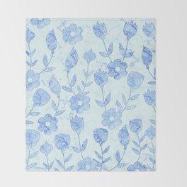 Watercolor Floral VII Throw Blanket