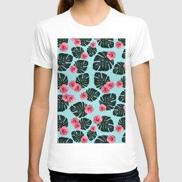 Tropical pattern n.1 - pale blue T-shirt