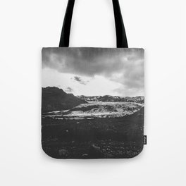 Ice giant - black and white landscape photography Tote Bag