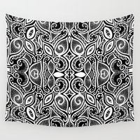 henna Wall Tapestries featuring Henna Inspired by Sidrah  Mahmood