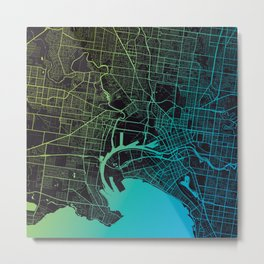Melbourne, Victoria Metal Print