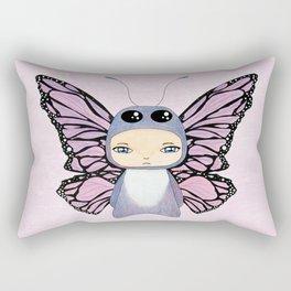 A Boy - Butterfly Rectangular Pillow
