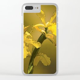 Golden Yellow Daffodils Clear iPhone Case