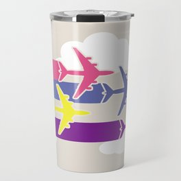 Colorful airplanes Travel Mug