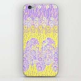 floral paisley bright yellow iPhone Skin