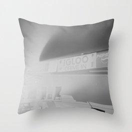 Igloo Drive-In Throw Pillow