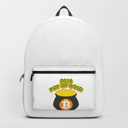 2018 Pot Of Gold Bitcoin St Patricks Day Backpack