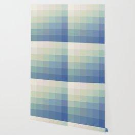 Mosaic Teal Ice Wallpaper