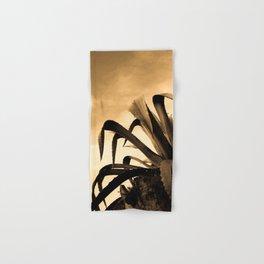 Giant Sepia Aloe Cactus Plant Photograph Art Print Hand & Bath Towel