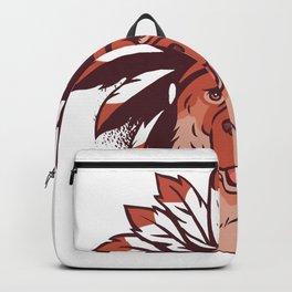 German Shepherd Indianer Backpack