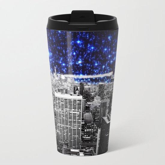 new york city. Blue Stars Metal Travel Mug
