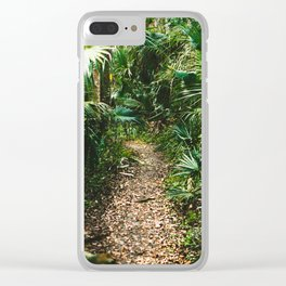 Jungle Pathway Clear iPhone Case