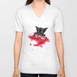 Don´t touch my pussy (male version) Unisex V-Neck
