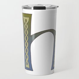 Celtic Knotwork Alphabet - Letter H Travel Mug