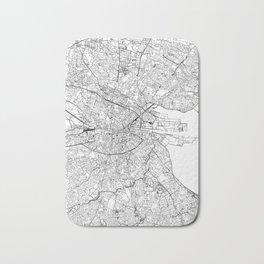 Dublin White Map Bath Mat