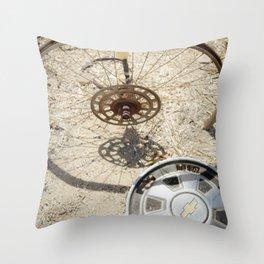 wheel & hub Throw Pillow