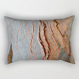 Eucalyptus Tree Bark and Wood Texture 18 Rectangular Pillow