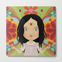 3rd Eye Doll Metal Print