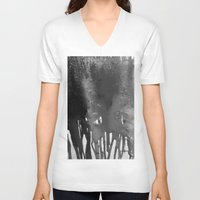 bleach V-neck T-shirts featuring Bleach B&W by Sparky