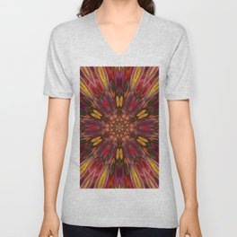 Multicolour Starburst 10 Unisex V-Neck