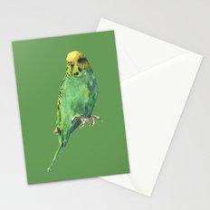 Budgie, parakeet, budgerigar,bird art, budgie painting Stationery Cards