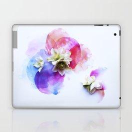 Hellebores on water colors Laptop & iPad Skin