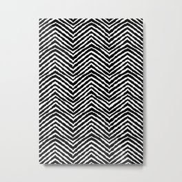 Chevron, Abstract, Minimal, Pattern, Nursery, Kids, Modern art Metal Print