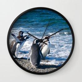 Penguin clique Wall Clock