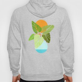 Tropical Symmetry II / Abstract Sunset Landscape Hoody