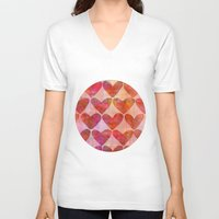 hearts V-neck T-shirts featuring Hearts by LebensARTdesign