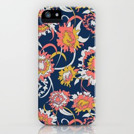 Bold Chinoiserie Floral - Limited Color Palette 2019 iPhone Case