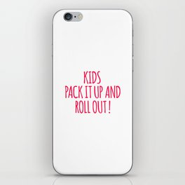 Kids Pack It Up And Roll Out iPhone Skin