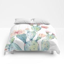 Cactus 2  White #society6 #buyart Comforters