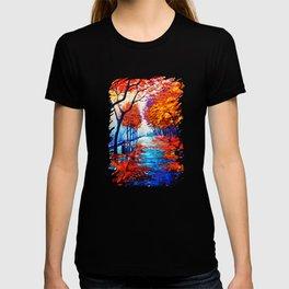 Tardis Art Tree Blossom T-shirt