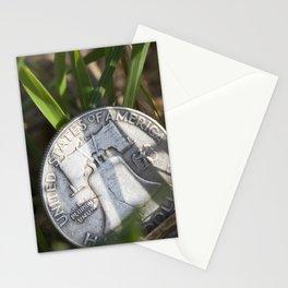 money on grass Stationery Cards