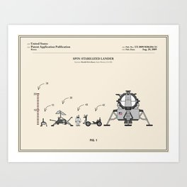 Space Lander Patent Art Print