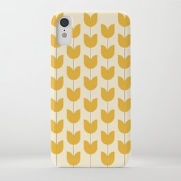 Yellow Tulip Pattern iPhone Case