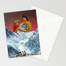 We captured the moon. Stationery Cards